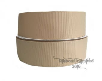 "10 Yards WHOLESALE 1.5"" Solid Toffee grosgrain ribbon LOW SHIPPING Cost"