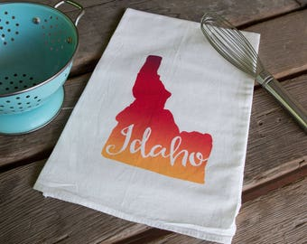 Idaho Screen Printed Tea Towel, flour sack towel