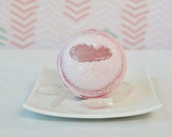 Rose Quartz Bath Bomb - Unconditional Love - Tarot - Healing Crystal Bath Bomb Collection