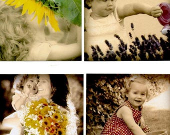 84 - Set of 4 images for cards or scrap girl