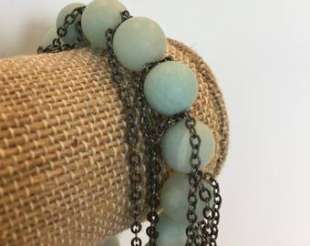 Amazonite fringe bracelet