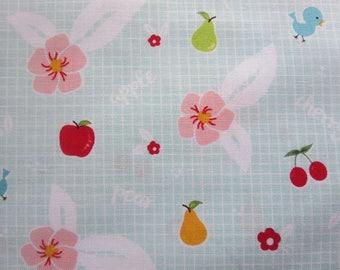 5.99 A Yard - Weekly Special - Sweet Orchard Fruit Aqua C5481- Riley Blake