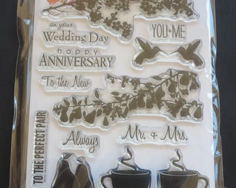 """Penny Black Clear Stamps 5""""X7"""" -You & Me -PB30285"""