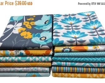 SALE 10% Off - Fat Quarter Bundle - ATRIUM (Mint Palette) - Joel Dewberry for Free Spirit Fabrics - 13 pcs
