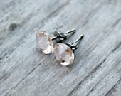 Titanium Earrings, Silk Swarovski Crystal, Hypoallergenic