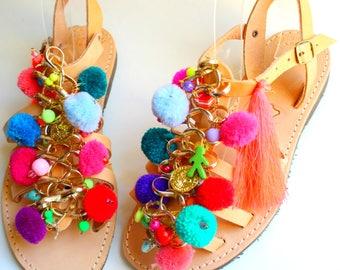 SALE! Boho kids sandals, children's sandals sandales fille sandales cuir