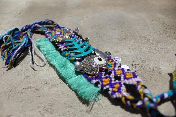 Boho bracelet, jewelry boho gypsy bracelet  bohemian cuff bracelet  tassel jewelry fish jewelry