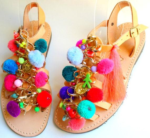 Boho kids sandals, children's sandals sandales fille sandales cuir