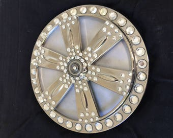 Executive Desk Spinner With Tons of Swarovski Crystals and BLING!