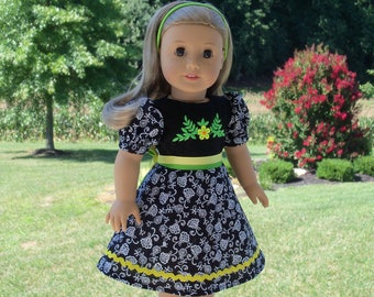 "18"" Size /Embroidered School Dress  for 18"" American Girl® Dolls"