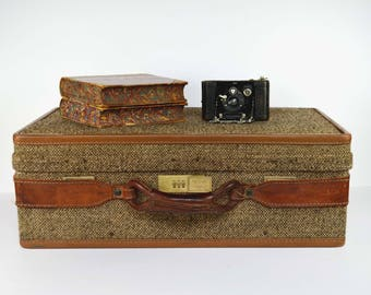 Vintage Hartmann Tweed Luggage Belted 1960s