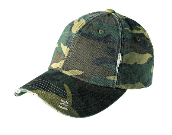 Distressed to Impress Camo Cap