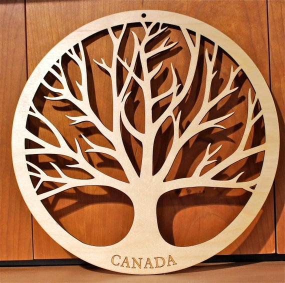"Jumbo Tree of Life Wall Art, 23""x23""x1/4"" , Laser Engraved, Paul Szewc, Masterpiece Laser"