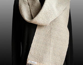 Sand and Sky Handwoven Scarf