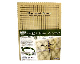 """Large Beadsmith™ Self-Healing Foam Macrame Board with FREE Instruction Book - 10"""" x 14"""" with Cord Notches - Learn How to Make Hemp Jewelry!"""