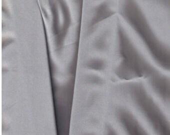 Tencel Twill Mercerized Hi-Construction woven fabric 5 Oz silver gray