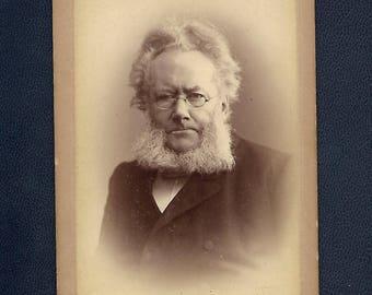 "Rare Henrik Ibsen Norwegian Playwright ""Father of Modernism""  Cabinet Card"