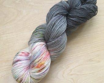 Abalone colorway superwash wool sock yarn