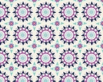 Dodi Lee Poulsen for Riley Blake Designs - LULABELLE - Medallion in Cream - Cotton Fabric - 1 yard