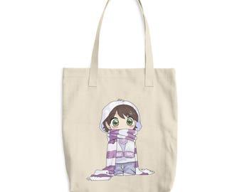 Chibi Anime Girl Japan Style Cotton Tote Bag