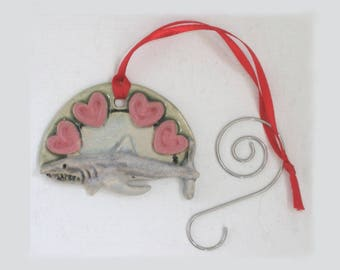 Great White Shark MUD Pi tree Ceramic Ornament