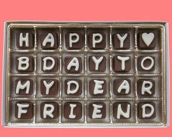 ship AFTER 8/7 Best Friend Gift for Him Her Gift BFF Birthday Gift Man Women Guy Idea Funny Luxury Happy B Day To My Dear Friend Cubic Choco