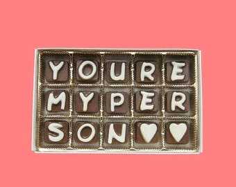 ship AFTER 8/7 You Are My Person Boyfriend Gift BFF Anniversary Gift Fiance Fiancee Gift Girlfriend Valentines Romantic Cute Chocolate Lette