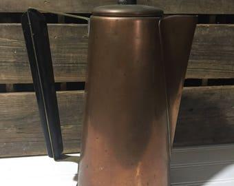 Vintage Copper teapot bohemian home decor boho chic