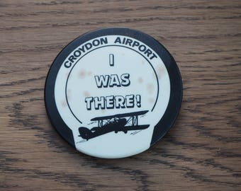 Vintage Croydon Airport badge - I was there