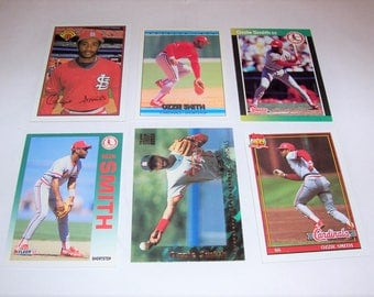 Vintage Lot of 6 Ozzie Smith Baseball Cards