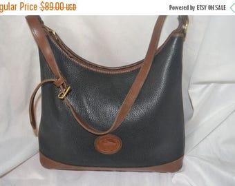June Savings Dooney Bourke Dooney Bag~ Shoulder Bag~ USA Made Black & Chestnut