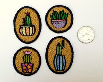 4 Cacti Lovers Bug Patch Lot