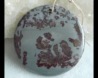 Chohua Jasper Gemstone  Round Pendant Bead,45x8mm,29.7g(f0318)
