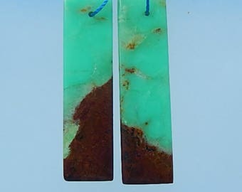 Chrysoprase,Gemstone Earring Bead,fashion,42x12x5mm,7.3g