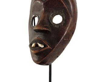 Dan Mask with Teeth Deangle Liberia Custom Stand African Art 118560