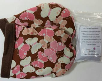 Hot Therapy Spa Mitten Set Butterflies on chocolate