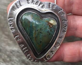 Agate heart pendant, love pendant, heart pendant