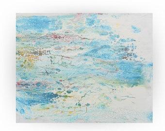 Modern Original Blue Abstract Painting Pallet Knife - Resurgence - 16 x 20- OOAK - by Skye Taylor