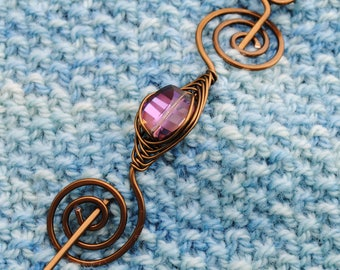 Orchid Shawl Pin in Bronze