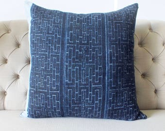 "26""By26, Cushion covers, Batik Hmong Vintage Textiles, Pillow case, Handwoven Hemp Fabric,sofa Pillows"
