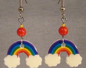 Rainbow Dangle Earrings - Colorful Jewelry - Cartoon Jewellery