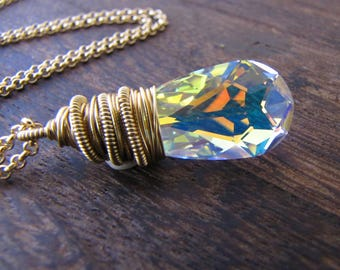 Aura Necklace, Angel Necklace, Aura Crystal, Unicorn Necklace, Orgon Charged, Energy Healing, Crystal Necklace, Ice Queen, Hologram