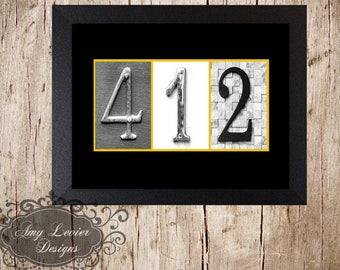 412 - Pittsburgh Alphabet Photography Letter Art available in Color Numbers or Black and Gold