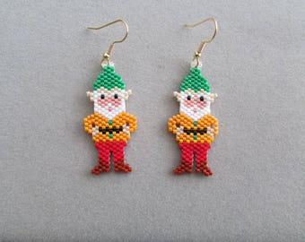 Garden Gnome Beaded Earrings