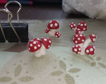 Polymer Clay Fairy Garden Toadstools