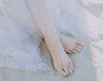 Wedding Barefoot Sandals Shoes Bridal Shoes Beach Wedding Foot Jewelery Weddings Boho Wedding Boho Accessories Boho Gypsy Shoes - Winter