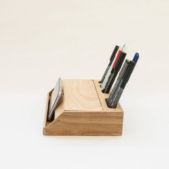 Modern Desk Organizers wood handmade desk organizer / office modern desk organizer /