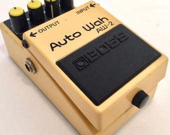 Classic Yellow Boss AW-2 AW2 Auto Wah funky Guitar Pedal Effect filter