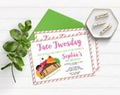 Taco Twosday Invitation for Girls, Taco Tuesday Invitation, Fiesta Invitation, Fiesta Birthday Party Invitations, Second Birthday