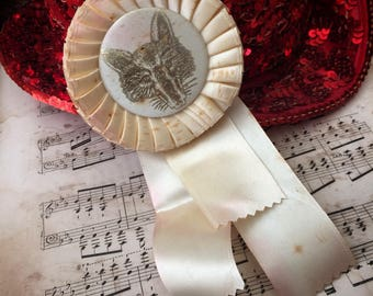 It May Be A Vintage Cream Horse Show Ribbon But The Fox Got The Rosette